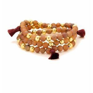 Gorjana, Hannah Drusy Tassel Wrap Bracelet